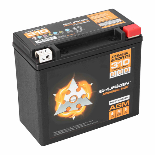 310 Crank AMPS 18AMP Hours AGM Battery