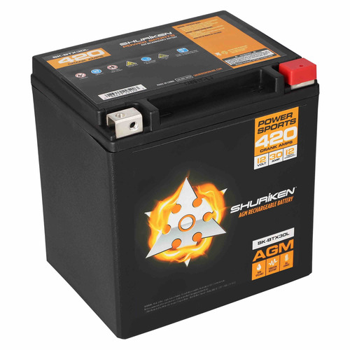 420 Crank AMPS 30AMP Hours AGM Battery