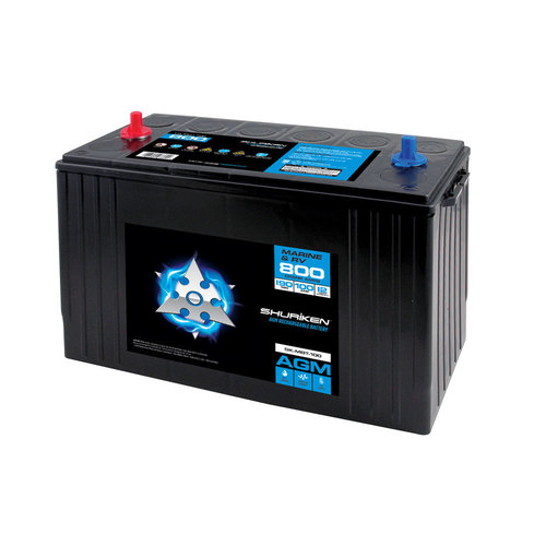 800 Crank AMPS / 100AMP Hours AGM Marine Battery
