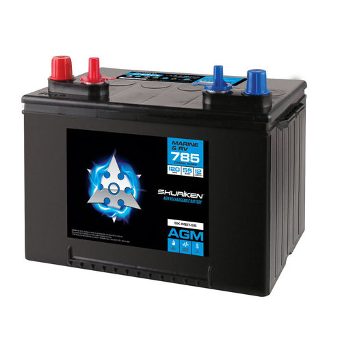 785 Crank AMPS / 55AMP Hours AGM Marine Battery