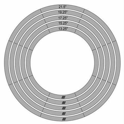 Large Circle Template Set - 5 Piece