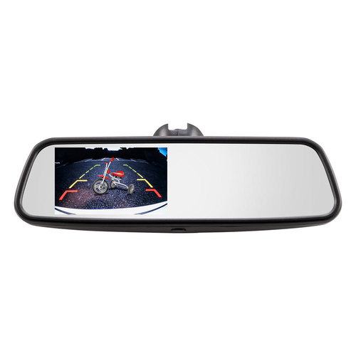 Universal Rearview Mirror Integrated 4.5 In Monitor and DVR