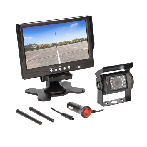 "Universal Wireless 7"" Monitor and Commercial Camera"