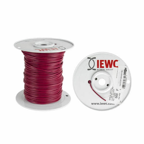 18 GA US GPT ALL COPPER PRIMARY WIRE RED - Coil of 500 FT