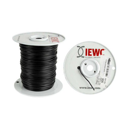 22 GA US GPT ALL COPPER PRIMARY WIRE BLACK - Coil of 500 FT