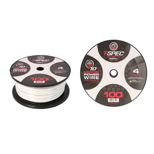 4 AWG 100FT MATTE PEARL OFC POWER WIRE - v10 SERIES