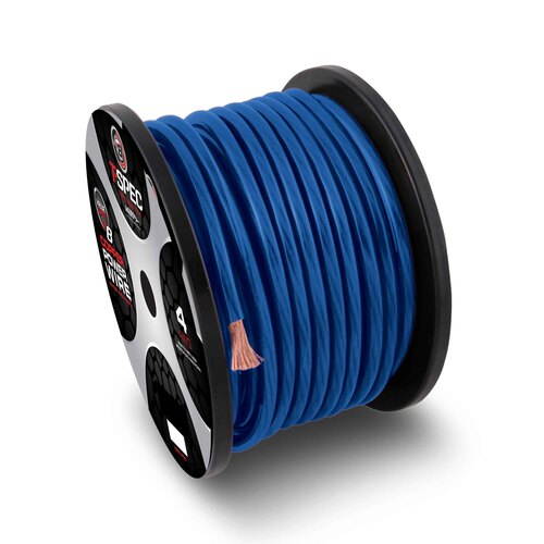 4 AWG 100FT BLUE OFC POWER WIRE - v8GT SERIES