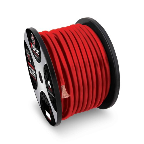 8 AWG 250FT RED OFC POWER WIRE - v8GT SERIES